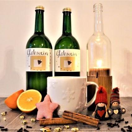 Glühwein Weinflasche von Weinbau Holzer